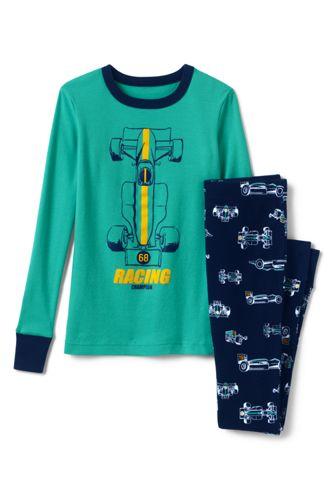 Schmal geschnittenes Pyjamaset mit Grafik für Jungen