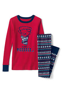 Boys Graphic Snug Fit Pajama Set, Front