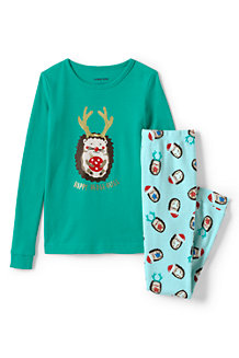 Girls' Graphic Snug Fit Cotton Pyjama Set