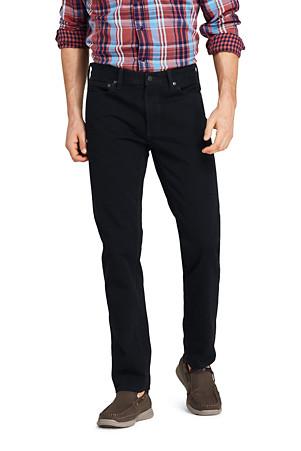 1bd883eb4d8157 Schwarze Denim-Jeans für Herren, Straight Fit | Lands' End
