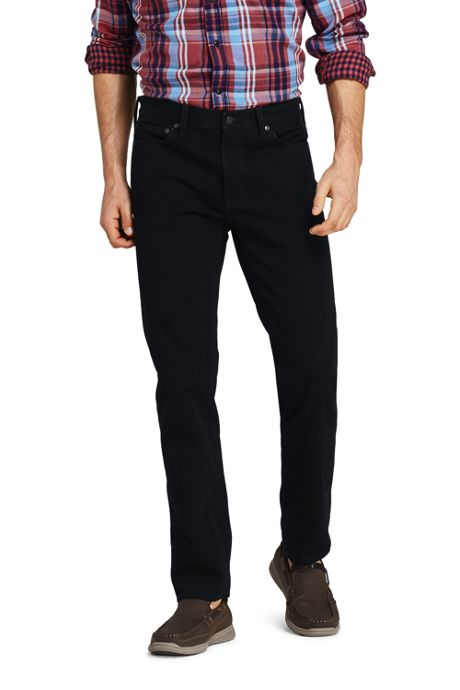 Men's Straight Fit Black Jeans