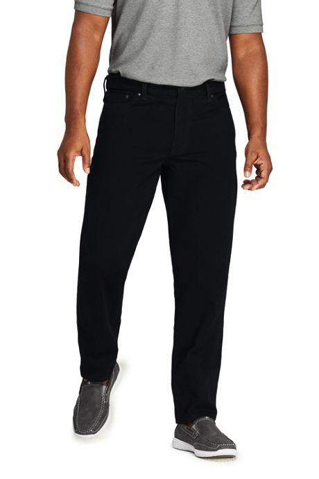 Men's Comfort Waist Black Jeans