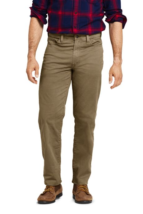 Men's Comfort Waist Traditional Fit Knockabout Chino Pants Garment Dye