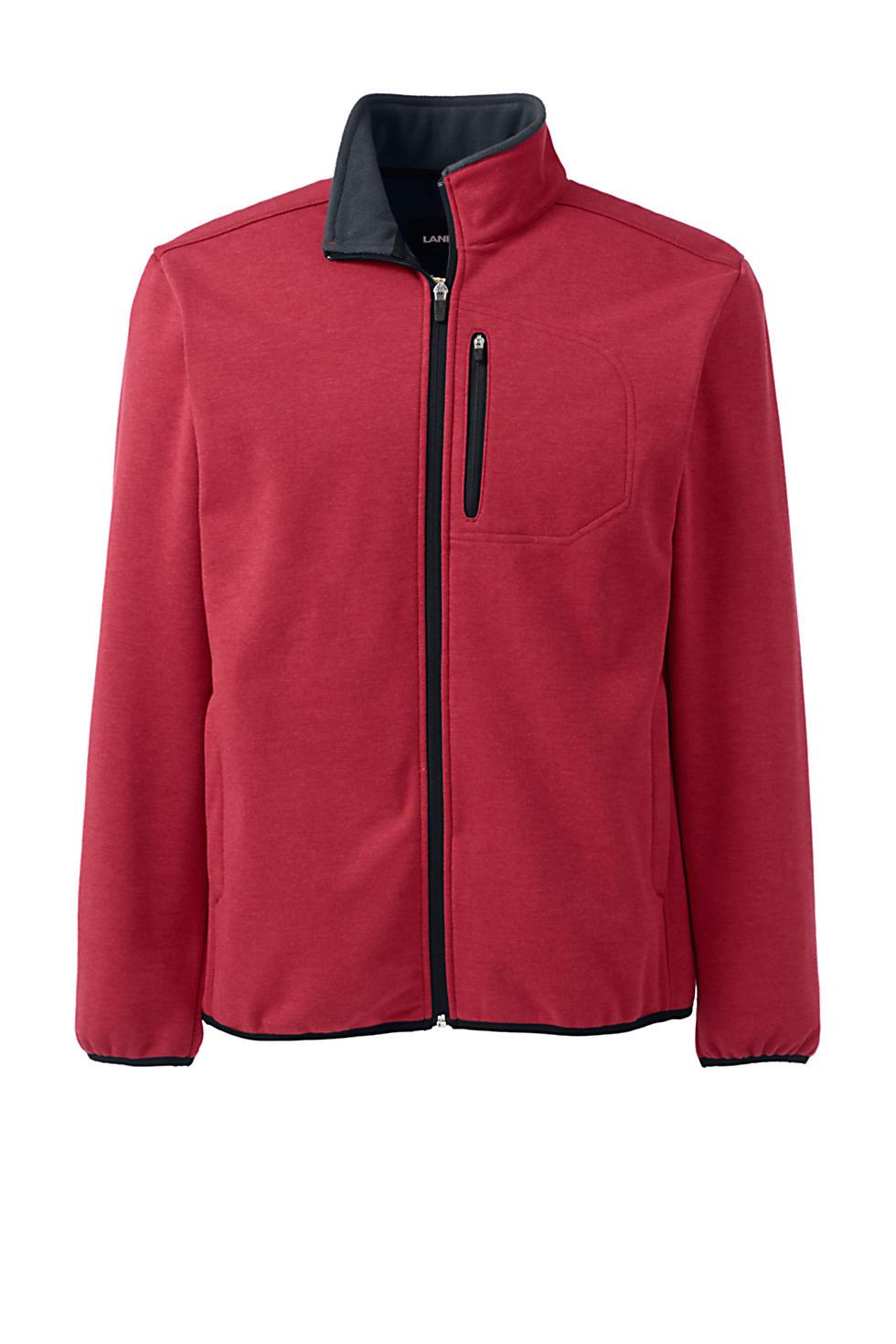 Lands End Mens Marinac Windproof Fleece Jacket (2 color options)