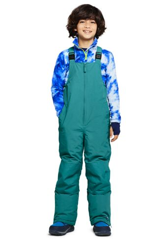 School Uniform Kids Husky-Plus Squall Waterproof Iron Knee Bib Snow Pants