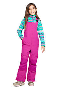 Kids Slim Squall Waterproof Iron Knee Bib Snow Pants, Front