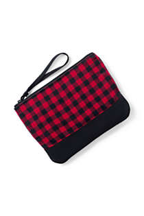 Medium Flannel Zipper Pouch, alternative image