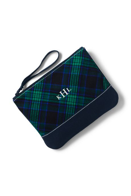 Medium Flannel Zipper Pouch