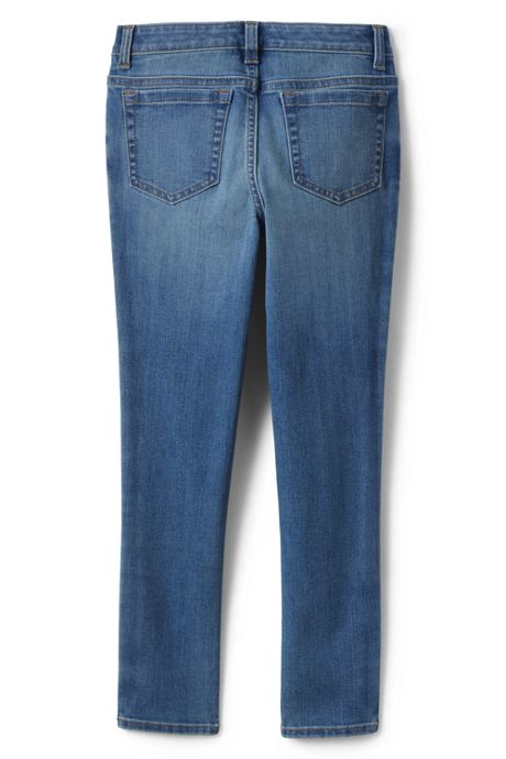 Girls Slim Size Iron Knee Shadow Seam Skinny Jeans