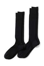 Men's Seamless Over the Calf Wool Rib Dress Socks- 2 pack