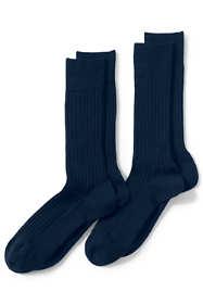 Men's Seamless Wool Rib Dress Socks (2-pack)