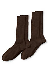 Men's Seamless Wool Rib Dress Socks (2-pack)