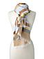 Foulard Multi-Rayures à Micro-Franges, Femme