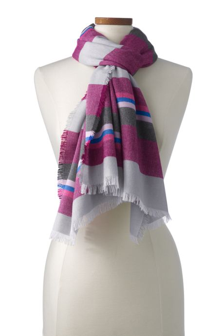 School Uniform Women's Striped Scarf