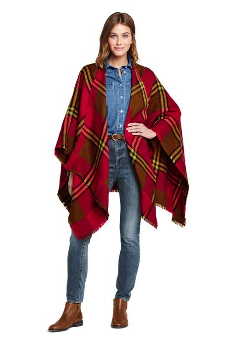Women's Plaid Shawl Wrap