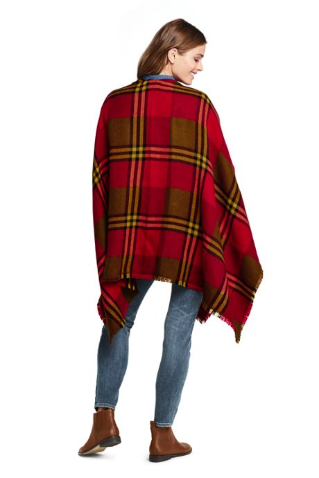 Women's Plaid Shawl Wrap