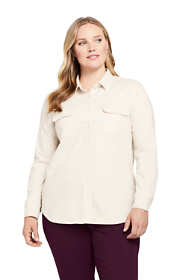 Women's Plus Size Denim Shirt