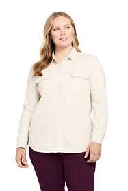 Women's Plus Size Denim Shirt
