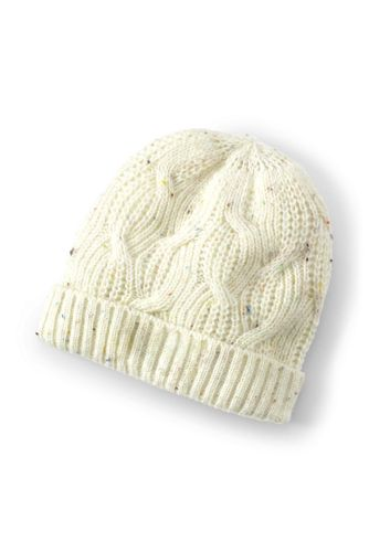 Women's Lightweight Cable Knit Beanie Hat