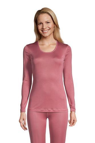 T-Shirt Technique en Soie à Manches Longues, Femme Stature Standard
