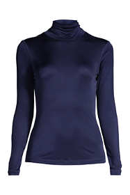 Women's Petite Silk Interlock Turtleneck
