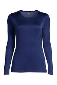 Women's Plus Size Silk Interlock Crewneck