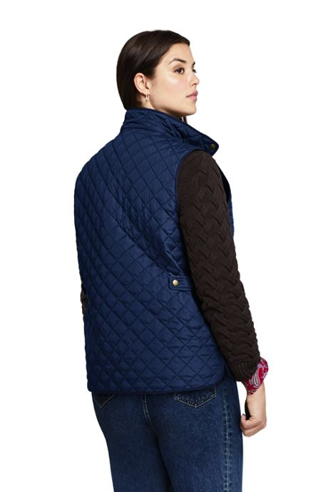 Women's Plus Size Insulated Quilted Barn Vest