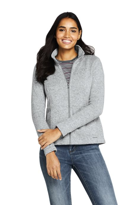 Women's Petite Sweater Fleece Jacket