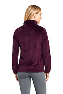 Women's Petite Softest Fleece Jacket, Back
