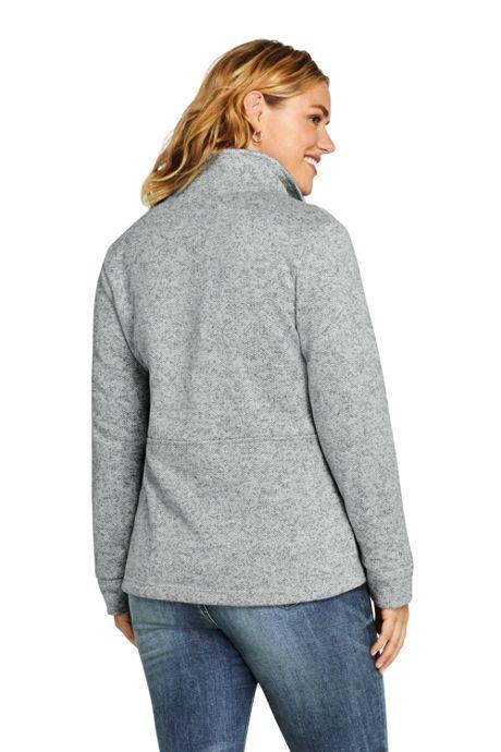 Women's Plus Size Sweater Fleece Jacket