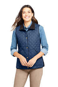 Women's Petite Insulated Quilted Barn Vest