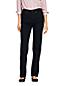 Jean Droit Stretch Taille Haute Noir, Femme Stature Standard