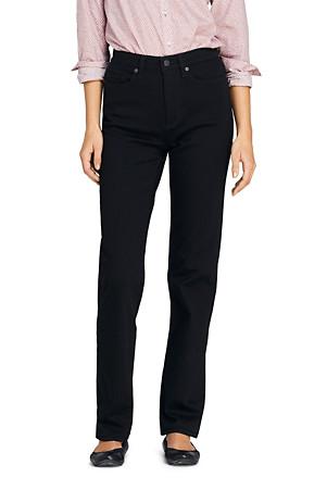 d2832ccc40e129 Schwarze Straight Fit Jeans High Waist für Damen   Lands' End