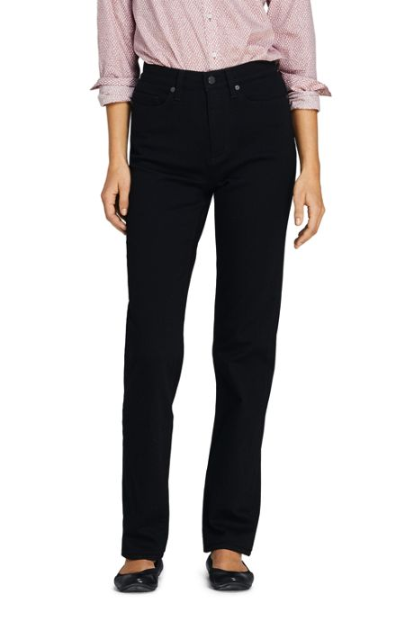 Women's Tall High Rise Straight Leg Jeans - Black