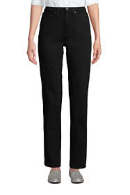 Women's Tall High Rise Straight Leg Stretch Jeans - Black