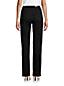 Schwarze Straight Fit Jeans High Waist für Damen