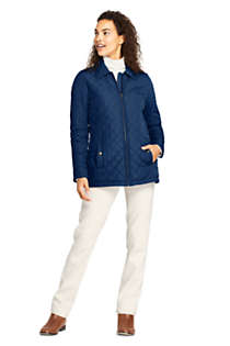 Women's Petite Insulated Quilted Barn Jacket, alternative image