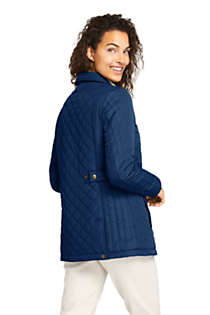 Women's Petite Insulated Quilted Barn Jacket, Back