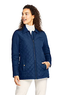 Women's Petite Insulated Quilted Barn Jacket, Front