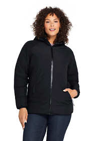 Women's Plus Size Reversible Insulated Rain Jacket