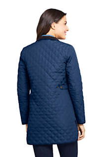 Women's Insulated Quilted Barn Coat, Back