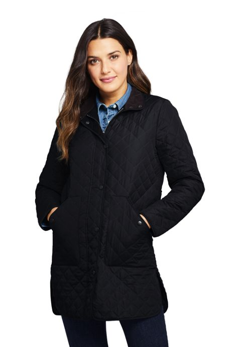 Women's Petite Insulated Quilted Barn Coat