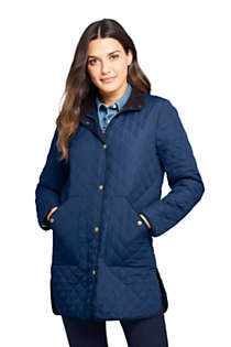 Women's Insulated Quilted Barn Coat, Front