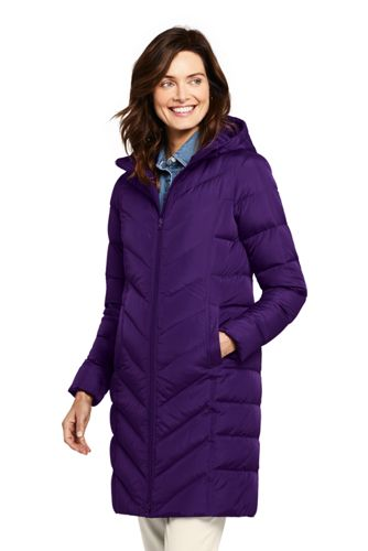 Women's Tall Hooded Down Coat