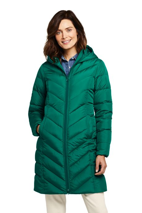 Women's Petite Long Down Winter Coat