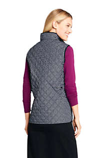 Women's Print Insulated Quilted Barn Vest, Back