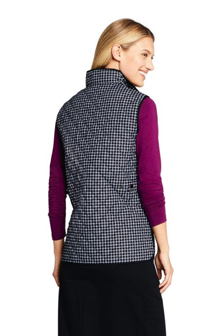 Women's Print Insulated Quilted Barn Vest
