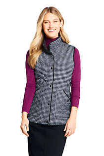 Women's Print Insulated Quilted Barn Vest, Front