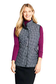Women's Petite Print Insulated Quilted Barn Vest
