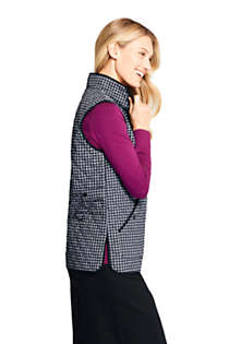 Women's Print Insulated Quilted Barn Vest, alternative image